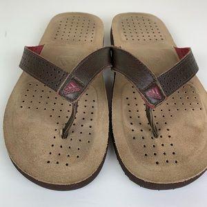 Men's Adidas Leather Sandals / Flip Flops Size 8